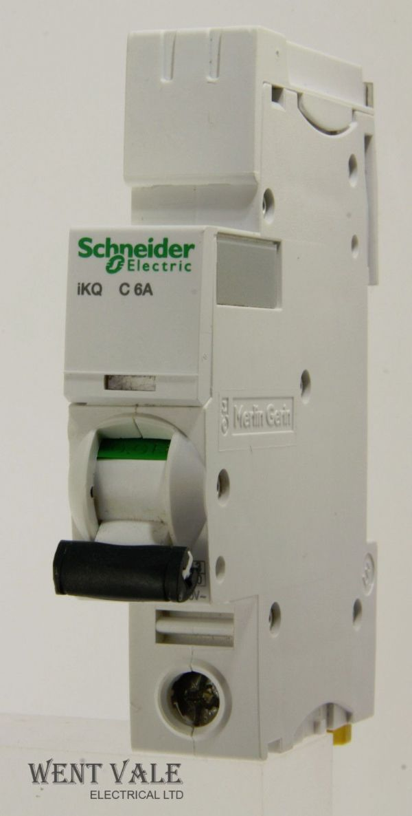 Schneider iKQ - A9F57106 - 6a Type C Single Pole MCB Latest Model Used